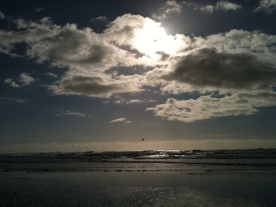 Mind Clarity Meditation Sun Waves Ocean Beach San Francisco